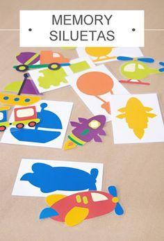 Actividades para Educación Infantil: Juego para confeccionar de los medios de transporte