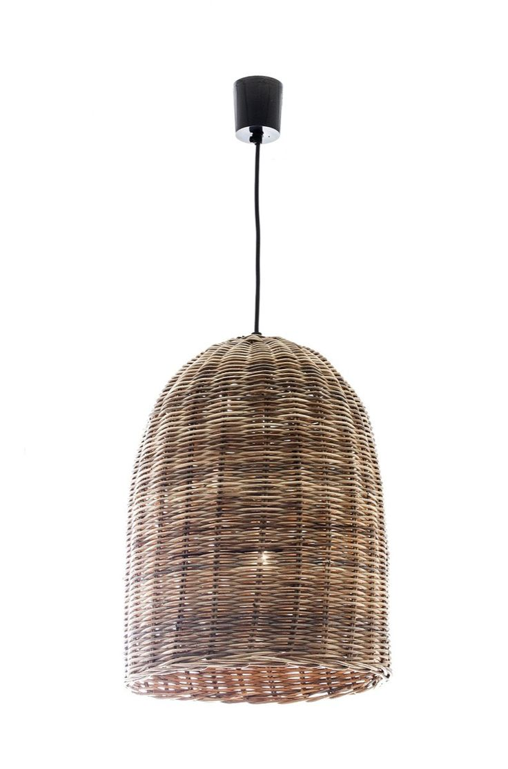 Wicker Bell Hanging Lamp Small  - Emac & Lawton $205 each, would need 3