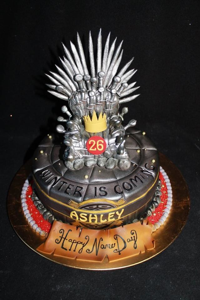 Game of Thrones Iron Throne Cake