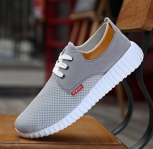 Men Mesh Fabric Breathable Shock Absorption Sneakers Sport Running Shoes is  fashionable and cheap, buy best sneakers for plantar fasciitis for ...