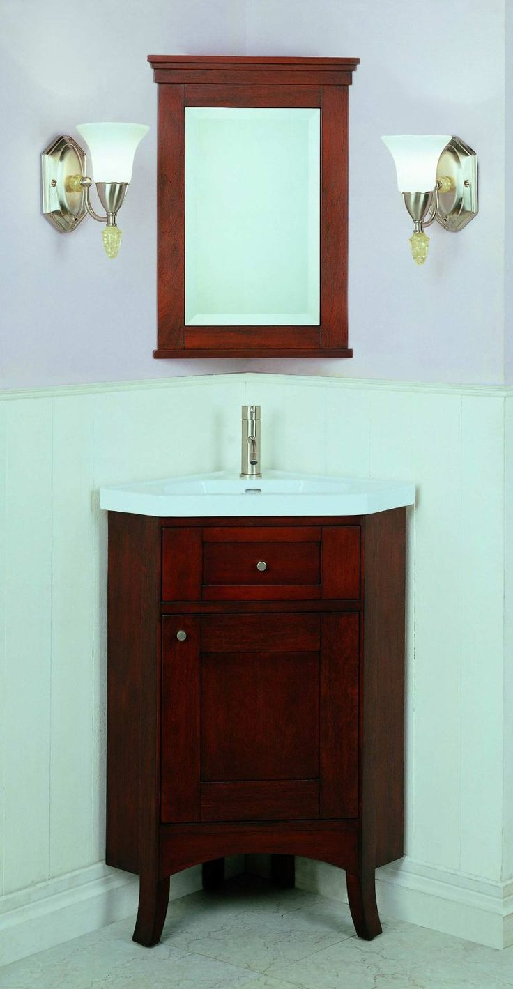 1000 ideas about corner vanity on pinterest corner - Corner bathroom sink vanity cabinet ...