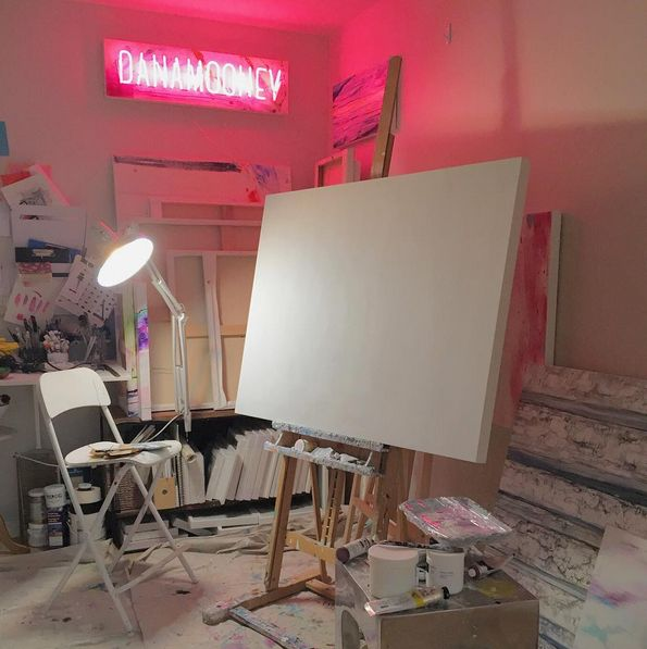 My studio - new signage art in collaboration with Endeavour Neon Signs www.danamooney.com