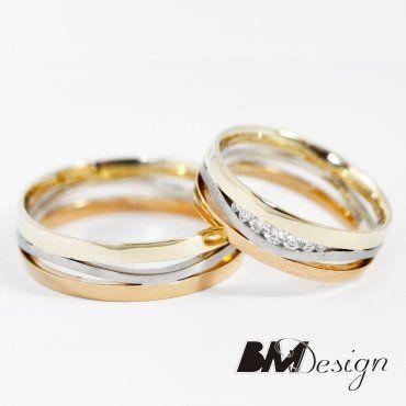 Obrączki ślubne z trzech kolorów złota