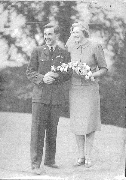 What To Wear To A Wartime Wedding | Hugh Verity and Audrey Stokes - Married 27 August 1940.Museums