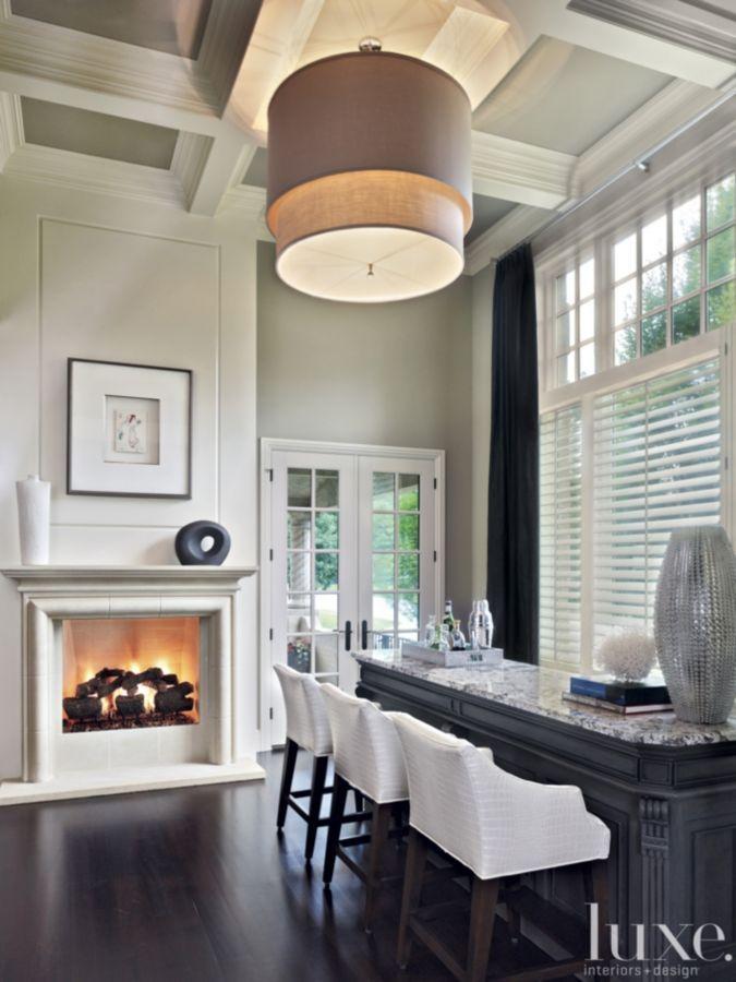 Impressive Bar Areas   Designer David Hintgen Made Entertaining Easy By  Adding This Custom Granite Wet Bar Off Of The Homeu0027s Kitchen.