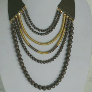 Taupe Grey Neck piece
