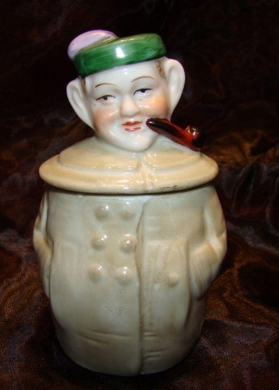 Moutardier Figurine Ecossais Pipe Tabac Style Art Deco Style Art Nouveau