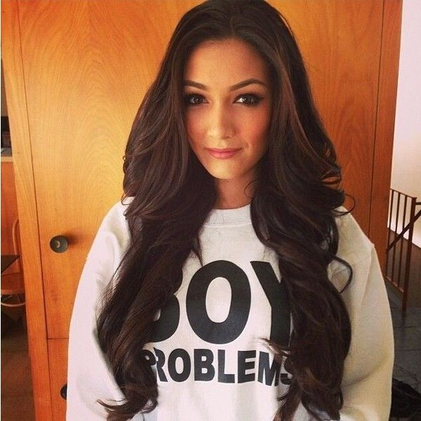 Pretty long brown hair ❤ liked on Polyvore featuring hair y hairstyles