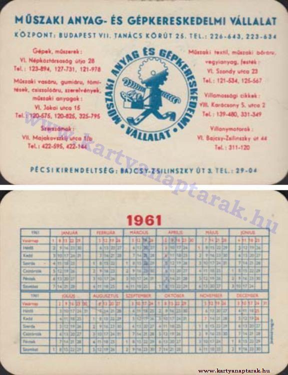 1961 - 1961_0080 - Régi magyar kártyanaptárak