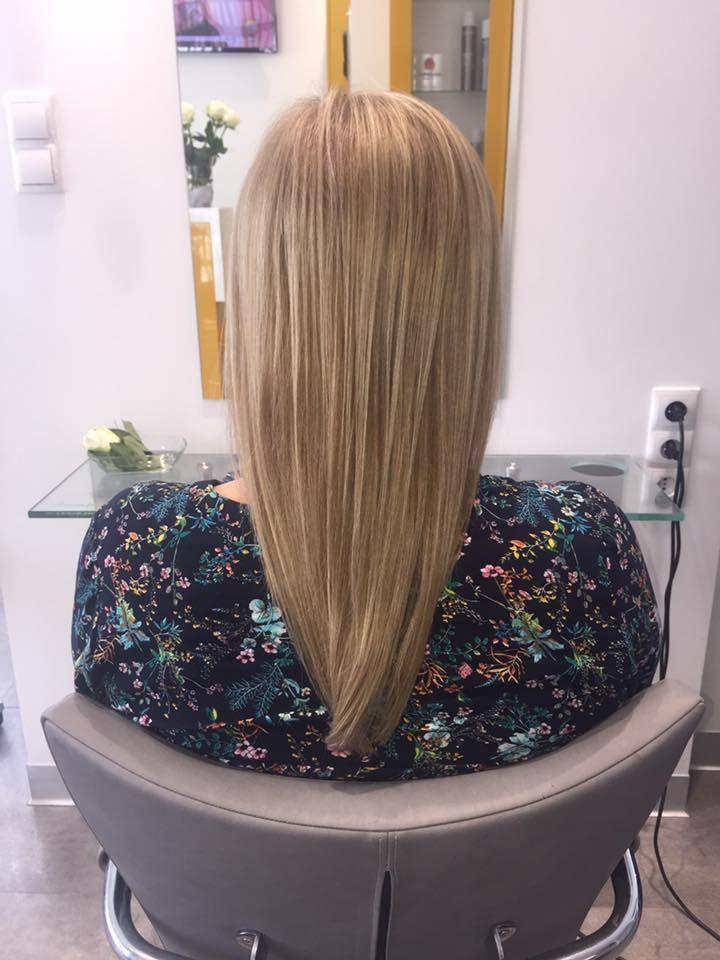 Wykonanie: Monika. www.fryzjer.lublin.pl #hair #blonde #hairstyle #haircut #woman #fryzjer #fryzury #damskie #Lublin #włosy