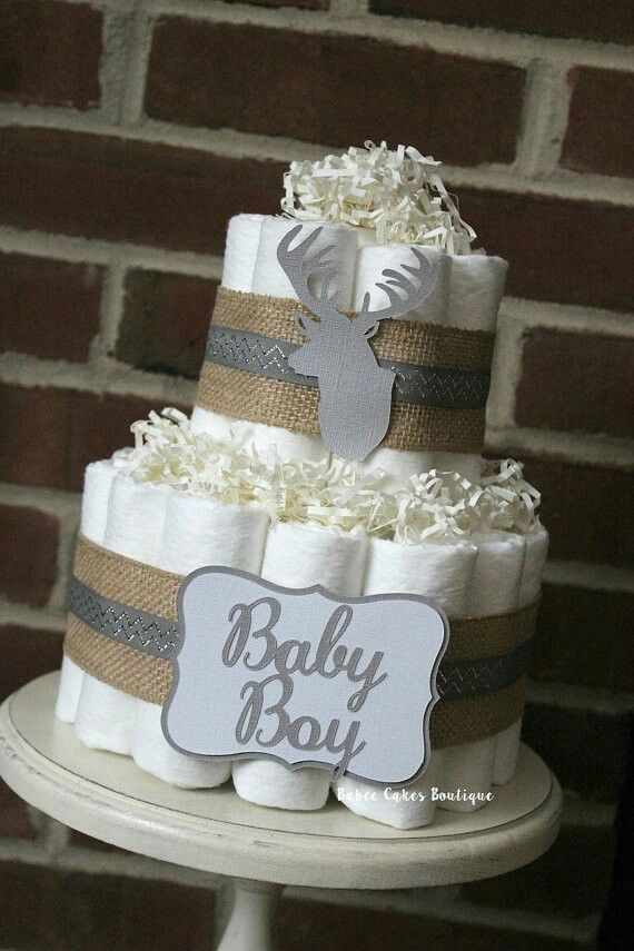 Diaper Cakes For Boys With A Elephant Theme