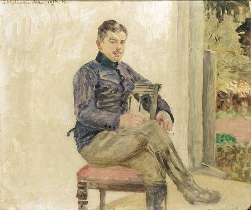 Jacek Malczewski - Portrait of an Officer (1914)