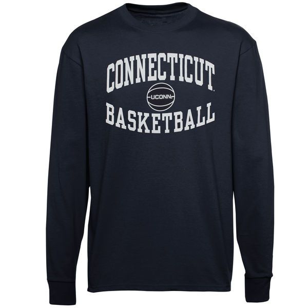 UConn Huskies Reversal Basketball Long Sleeve T-Shirt - Navy Blue - $16.99