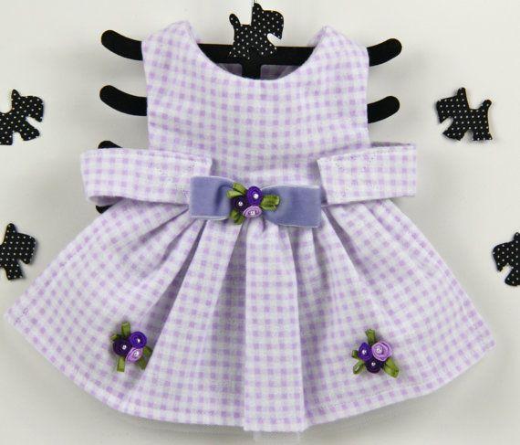 Angel Dog Dress - XS, Lavender Purple Dog Dress, Shabby Chic Dog Dress, Lilac Purple Dog Clothing, Purple Pink Dog Designs, Vintage Dog. on Etsy, $64.00