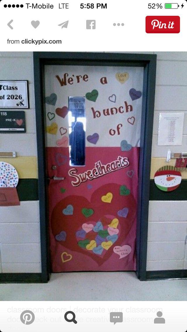 February classroom door