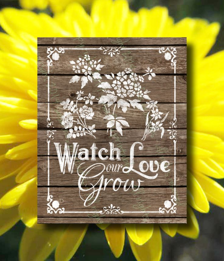 Watch Love our Grow Wedding Printable, Printable Wooden ...