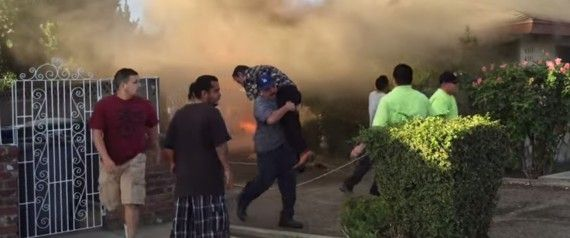 Hero Runs Into Burning Home, Carries Man Out -- Then Disappears