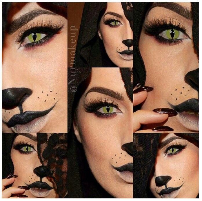 Cat Halloween makeup & SFX contact lenses