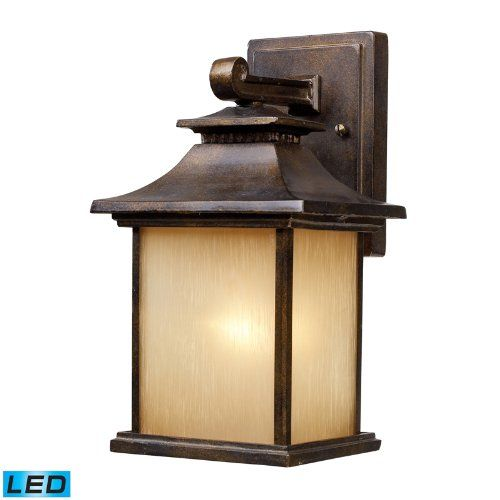 One Light LED Hazlenut Bronze Wall Lantern Light Fixture
