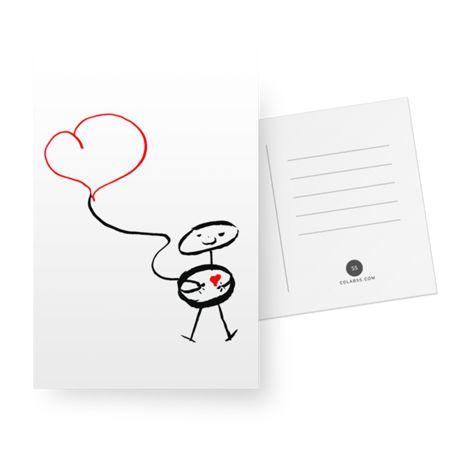 Já escolheu o presente do Dia dos Namorados?  Corre lá na minha lojinha online para achar um presente bacana para dar para alguém especial!  Cartão The love doodle do Studio Flaviatotoli por R$23,00
