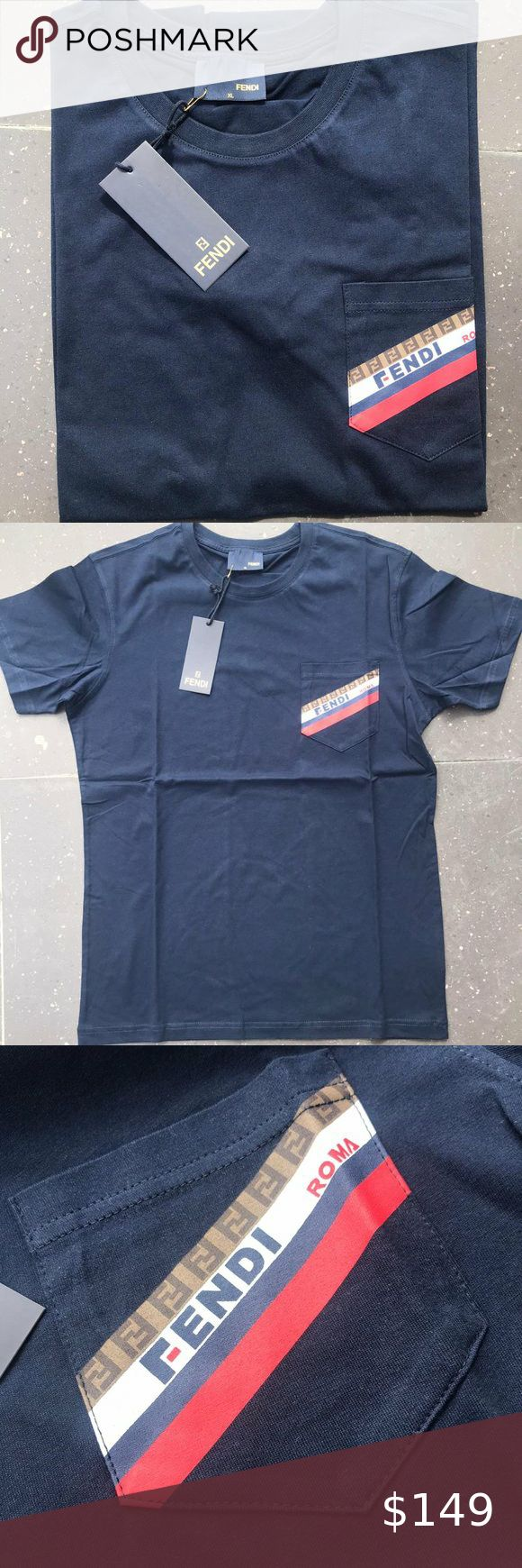 Fendi Roma Men Shirt Brand New Factory Sealed With Tag Cotton Xl Fendi Sh Brand Cotton Factory Fendi Men Roma Sea Mens Shirts Fendi Fendi Shirt
