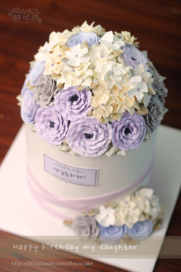 [thisiscake Korea] buttercream flower cake by www.thisiscake.co.kr