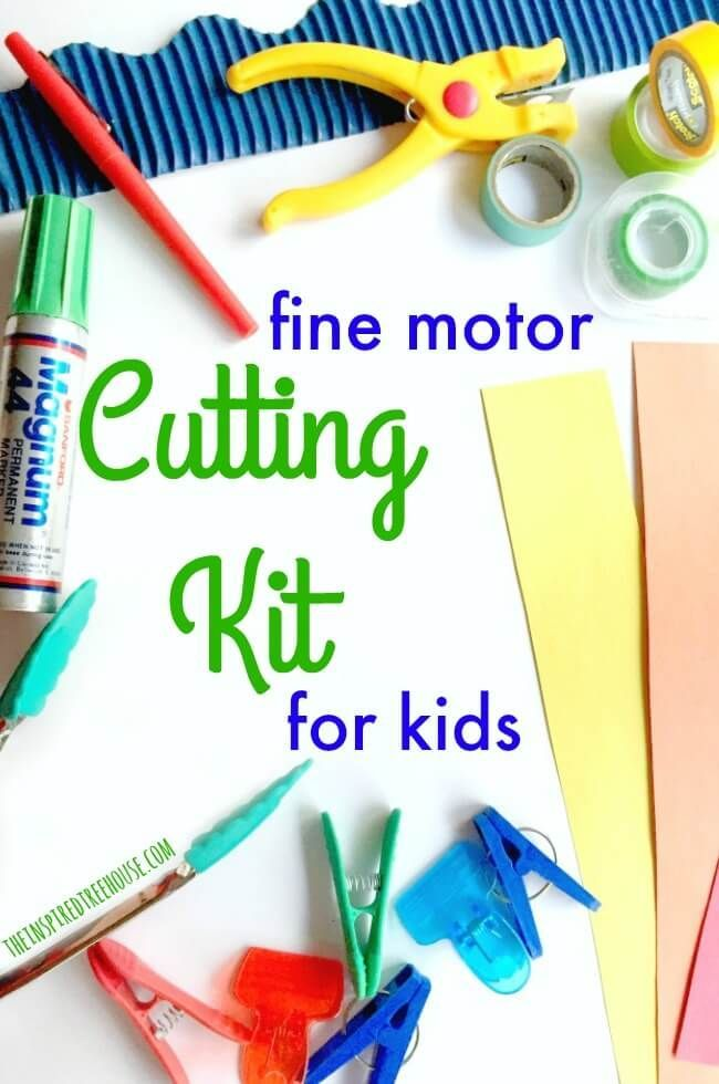 The Inspired Treehouse - There are so many fun and creative cutting activities for preschoolers and young kids.  This cutting kit is a great way to introduce the skills needed for cutting with scissors!