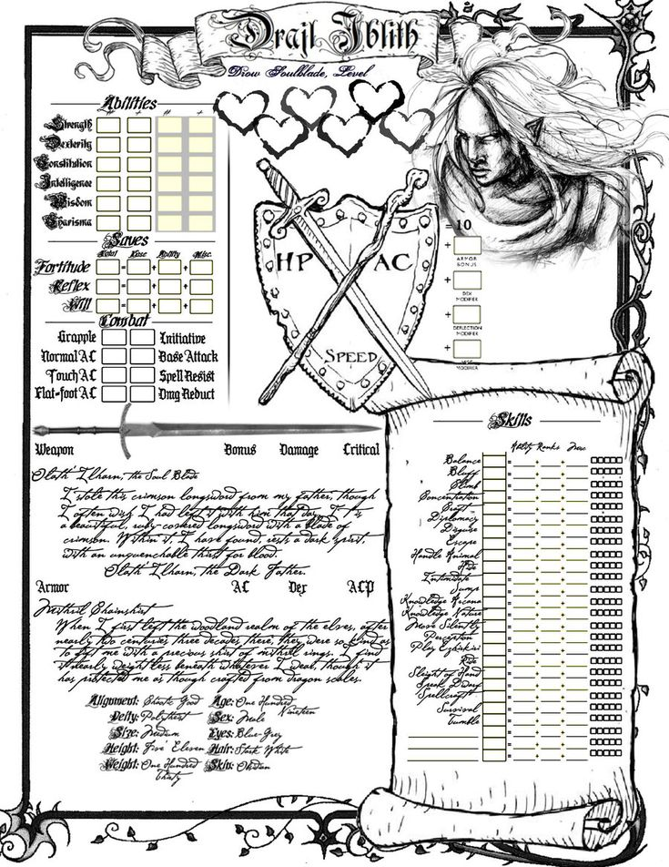 D Artiste Character Design Pdf : Best images about d character sheets on pinterest