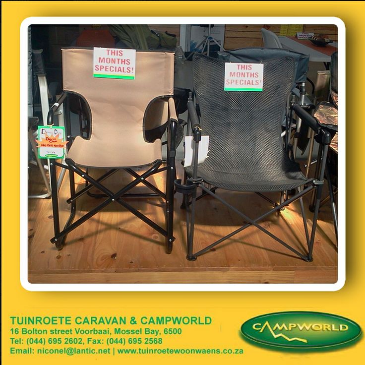 Suifestylemmer specials include fold up camping chairs. Visit the store for these and other special offers. #camping #l