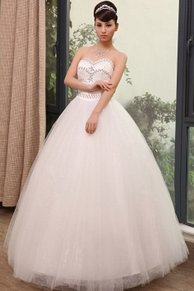 Tulle Elegant Sweetheart Bridal Gowns wr0364 - http://www.weddingrobe.co.uk/tulle-elegant-sweetheart-bridal-gowns-wr0364.html - NECKLINE: Sweetheart. FABRIC: Tulle. SLEEVE: Sleeveless. COLOR: Ivory. SILHOUETTE: Ball Gown. - 142.59