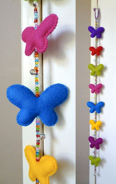 Felt butterflies & Beads - for you Suzanne