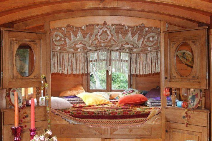 *gypsy caravan interior - love the little dressers