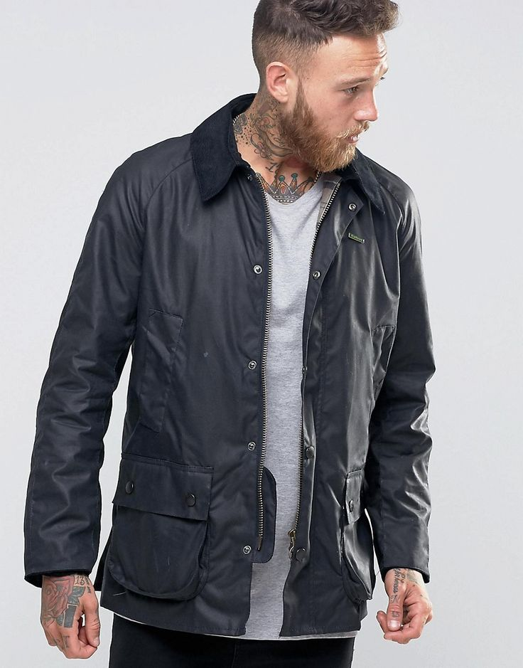 Barbour+Ashby+Wax+Jacket+In+Navy