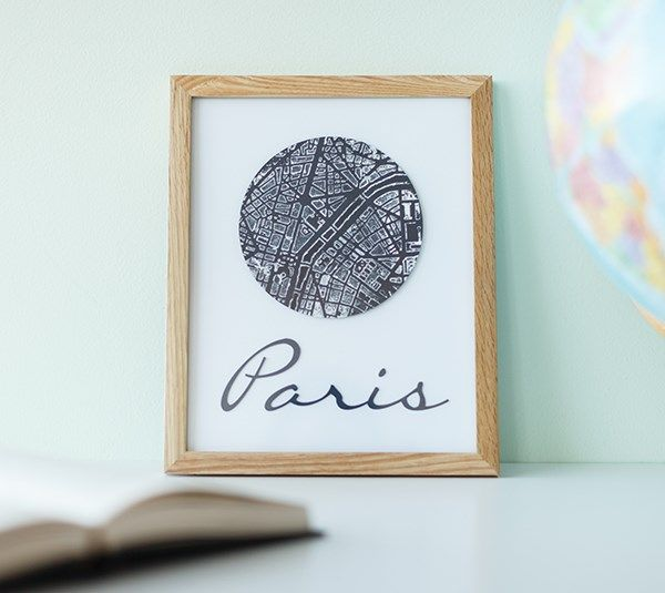 Paris Map Art. Make It Now with the Cricut Explore machine and Cuttlebug in Cricut Design Space.