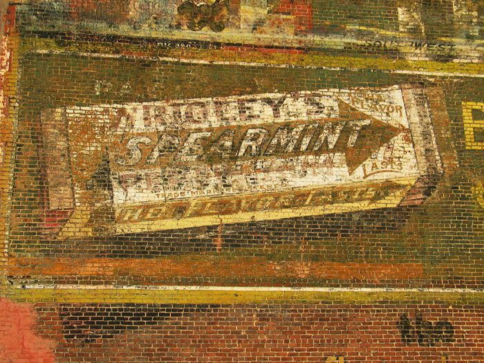 Wrigley's Spearmint gum - brick ad / ghost sign - saralovering