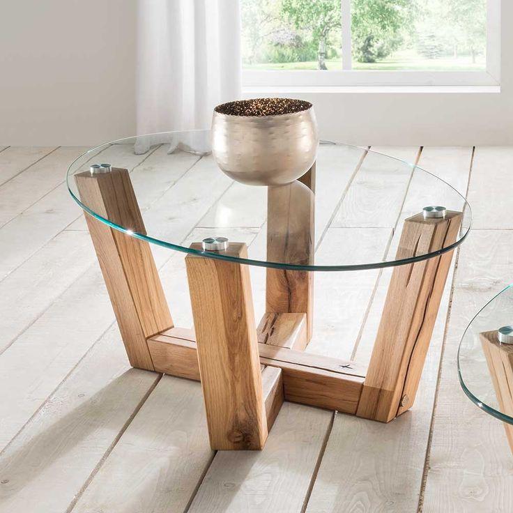 Design Couchtisch Mit Ovaler Glasplatte Kernbuche Massivholz Jetzt Bestellen Unter Moebel
