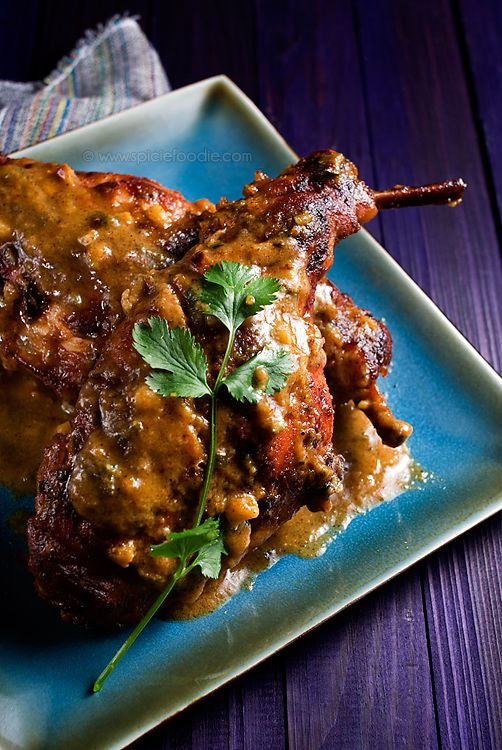 Braised Honey Mustard Rabbit Or Lapin au miel et à la moutard (With Chicken Option) from @SpicieFoodie