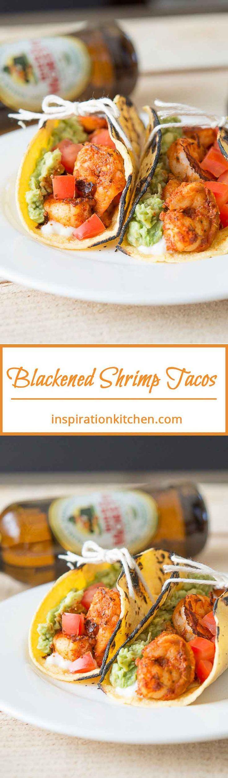 Blackened Shrimp Tacos Queso Fresco Collage | Inspiration Kitchen  #shrimp #blackenedshrimp #tacos #shrimptacos #recipe