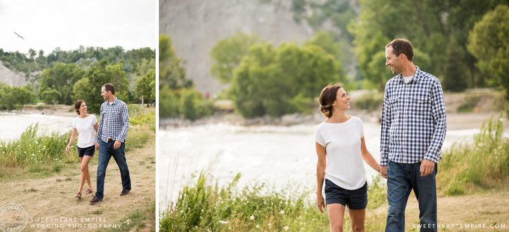 Scarborough Bluffs Engagement Session. Bluffers Park, Toronto Engagement Photos. #sweetheartempirephotography