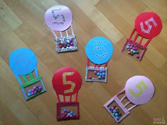 DIY Heissluftballon Kindergeburtstagseinladungen (rosaundlimone)