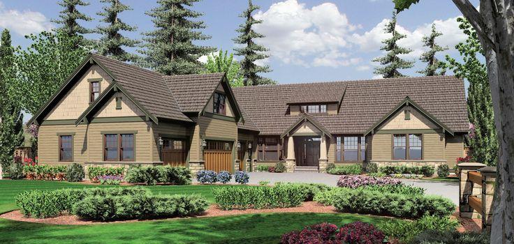 Mascord Plan 2377 -The Pineville | Craftsman House Plans