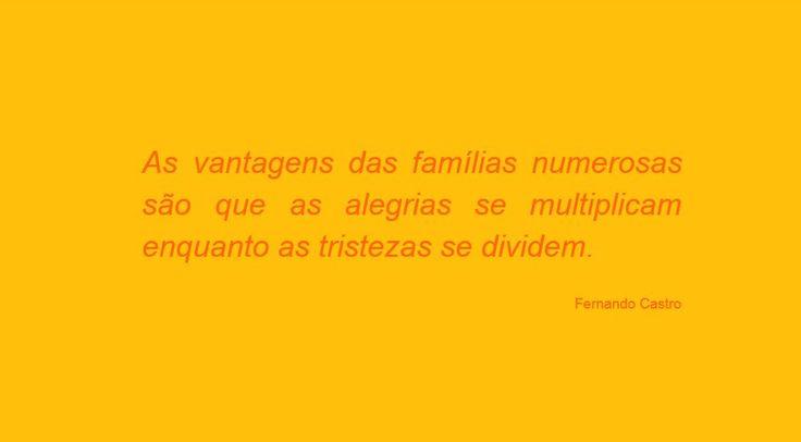 As vantagens das famílias numerosas