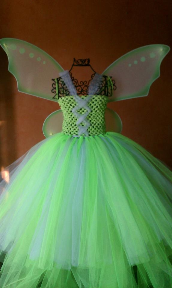 Made this Tinkerbell Dress the other day!!  I think it turned out amazing!!!