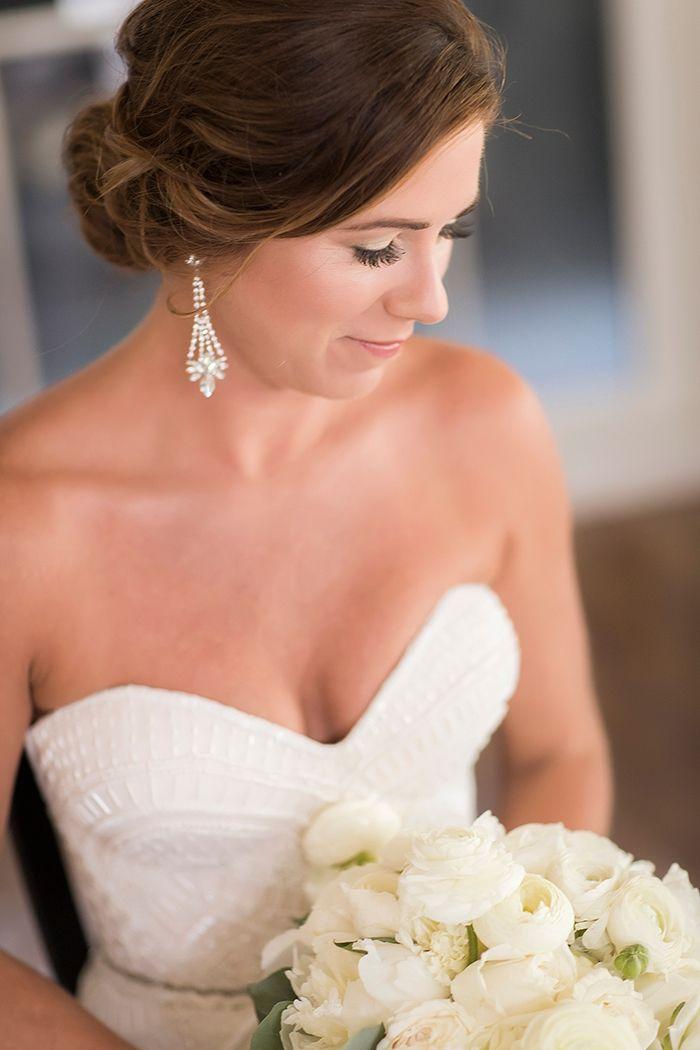 Romantic Crystal Bridal Earrings    #wedding #weddingday #aislesociety #glam #luxewedding #weddingdress #bride