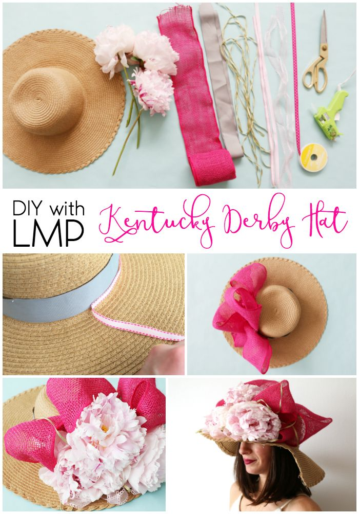 DIY with LMP: Kentucky Derby Hat | Step-by-step instructions for how to make your own floppy and fabulous hat for the Kentucky Derby