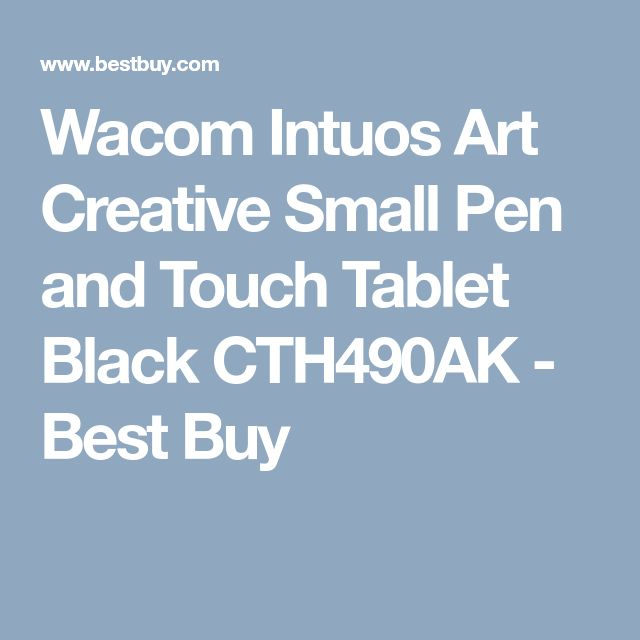 Wacom Intuos Art Creative Small Pen and Touch Tablet Black CTH490AK - Best Buy