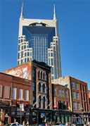 On of a handful of skyscrapers in downtown Nashville - more like Gotham City