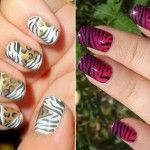 unhas de zebra 3 150x150 Unhas de Zebra Como fazer passo a passo