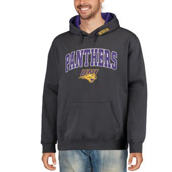 Northern Iowa Panthers Charcoal Arch & Logo Pullover Hoodie