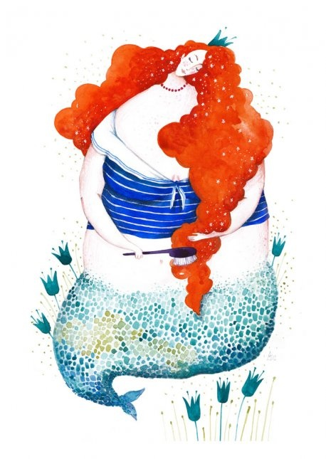 If you're a mermaid, brushing your hair 100 times before bed will make you dream your chosen one.